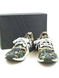 【中古】adidas Originals by BAPE×A BATHING APE アディダスオリジナルス×ア ベイシング エイプ NMD R1 BAPE スニーカー グリーン 27.5cm メンズ