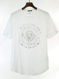 【中古】BALMAIN HOMME バルマン オム 19SS メダリオンプリントTシャツ ホワイト XL メンズ