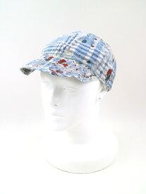 【中古】Porter Classic ポーター クラシック チェック柄ハンドペイントキャップ 帽子 ブルー メンズ