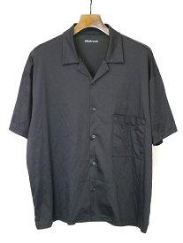 【中古】08sircus ゼロエイトサーカス 18SS silky jersey open collar shirt オープンカラーシルキージャージーシャツ ブラック 5 メンズ