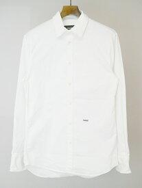 【中古】DSQUARED2 ディースクエアード 16AW ラウンドカラーワイヤーシャツ ホワイト 46 メンズ