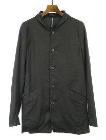 【中古】ripvanwinkle リップヴァンウインクル 18SS リネン混コットンチェスタージャケット ブラック 4 メンズ