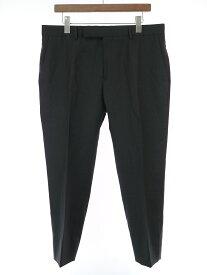 【中古】CELINE セリーヌ 19SS ウールギャバジンクラシックパンツ ブラック 52 メンズ
