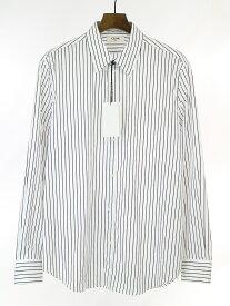 【中古】CELINE セリーヌ 19SS LOOK2 ドラッグストアカラーストライプクラシックシャツ ホワイト 42 メンズ