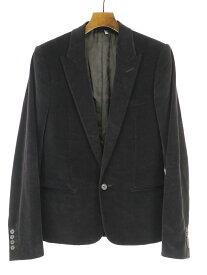 【中古】Dior HOMME ディオールオム 05AW ピークドラペルモールスキンテーラードジャケット ブラック 46 メンズ
