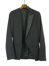 【中古】Dior HOMME ディオールオム 03AW アシンメントロリースモーキングジャケット ブラック 44 メンズ