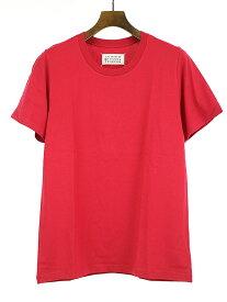 【中古】Maison Martin Margiela10 メゾンマルタンマルジェラ10 15SSクルーネックTシャツ レッド 46 メンズ