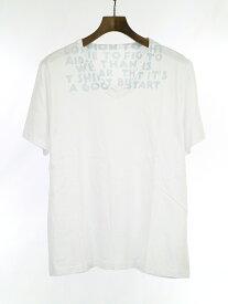 【中古】Maison Martin Margiela メゾン マルタン マルジェラ 18SS エイズプリントTシャツ ホワイト M メンズ
