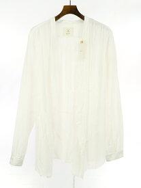 【中古】bukht ブフト MONK SHIRTS モンクシャツ ホワイト 3 メンズ
