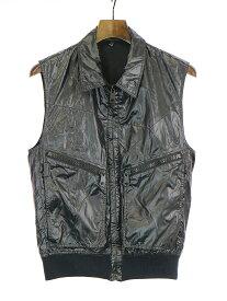 【中古】Dior HOMME ディオールオム 09SS ナイロンジップベスト ブラック 44 メンズ