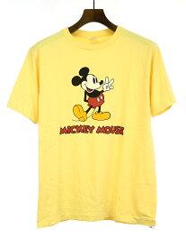 【中古】STANDARD CALIFORNIA スタンダードカリフォルニア ×Disney SD Mickey Mouse Tee プリントTシャツ イエロー M メンズ