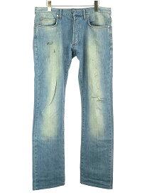【中古】Dior HOMME ディオールオム 10SS ヴィンテージダメージ加工デニムパンツ インディゴ 32 メンズ