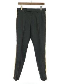 【中古】Calvin Klein Platinum カルバンクラインプラティナム サイドラインスラックスパンツ ブラック 30 メンズ