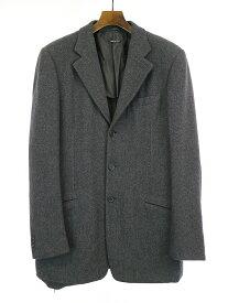 【中古】GIORGIO ARMANI ジョルジオアルマーニ ウールテーラードジャケット グレー 50 メンズ