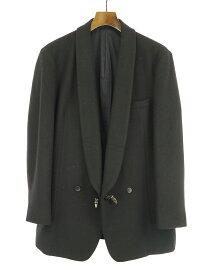 【中古】the Sakaki ザサカキ カシミヤ混ウールショールカラージャケット ブラック S メンズ
