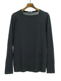 【中古】Dior HOMME ディオールオム デザインロングスリーブTシャツ ブラック S メンズ