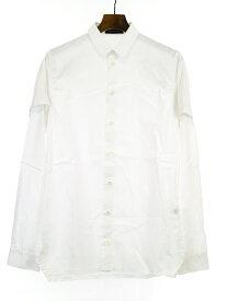 【中古】KRIS VAN ASSCHE クリスヴァンアッシュ コットン長袖シャツ ホワイト 46 メンズ