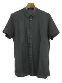 【中古】KRIS VAN ASSCHE クリスヴァンアッシュ 13SS 切替半袖シャツ ブラック 44 メンズ