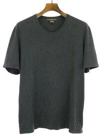 【中古】LOUIS VUITTON ルイヴィトン クルーネックTシャツ ブラック L メンズ