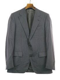 【中古】LANVIN ランバン 15 Faubourg ウールシルク2Bクラシックセットアップスーツ グレー 46 メンズ