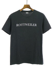 【中古】ROTTWEILER ロットワイラー 15AW LOGO TEE ロゴプリントTシャツ ブラック M メンズ
