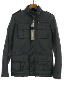 【中古】BALMAIN HOMME バルマン オム オイルコーティングM65ジャケット ブラック 46 メンズ