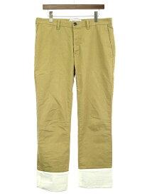 【中古】LOEWE ロエベ 19SS TURN UP CHINO PANTS ターンアップチノパンツ フィッシャーマン ベージュ 50 メンズ