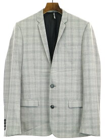 【中古】Dior HOMME ディオールオム 11SS シャドウチェックナローラペルセットアップスーツ グレー 46 メンズ