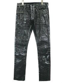 【中古】Dior HOMME ディオールオム 03AW LUSTER ラスターコーティングコーデュロイパンツ ブラック 46 メンズ
