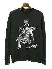 【中古】UNDERCOVERISM アンダーカバーイズム 17AW NO ANGELS グラフィックプリントクルーネックスウェットトレーナー ブラック L メンズ