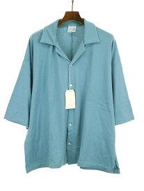 【中古】bukht ブフト 19SS CORE COMPACT YARN S/S SHIRTS コアコンパクトヤーンシャツ ブルー 2 メンズ