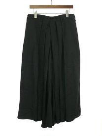 【中古】Yohji Yamamoto POUR HOMME ヨウジヤマモト プール オム 19SS ウールギャバジン袴パンツ ブラック 3 メンズ