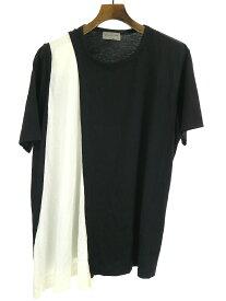 【中古】Yohji Yamamoto POUR HOMME ヨウジヤマモトプール 15SS カットデザインクルーネックTシャツ ブラック 3 メンズ