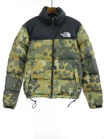 【中古】THE NORTH FACE ザ ノースフェイス 18AW Retro Seasonal Nuptse Jacket Camo ヌプシダウンジャケット 迷彩 カーキ S メンズ