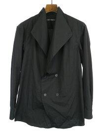【中古】ISSEY MIYAKE MEN イッセイミヤケ メン 18SS LOOK9 ダブルブレストラップシャツ ブラック 2 メンズ