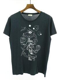 【中古】SAINT LAURENT PARIS サンローラン パリ 13SS グライムスプリントTシャツ ブラック L メンズ