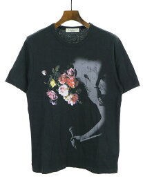 【中古】UNDER COVER アンダーカバー フラワープリントTシャツ ブラック 2 メンズ
