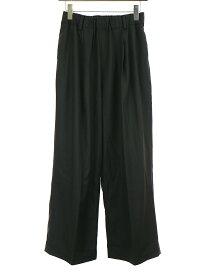 【中古】Lui's ルイス オリジナルファブリックウール混ワイドパンツ ブラック S メンズ
