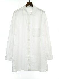 【中古】Yohji Yamamoto POUR HOMME ヨウジヤマモト プールオム 18SS コットンブロードトッパーシャツジャケット ホワイト 1 メンズ