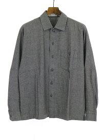 【中古】ISSEY MIYAKE イッセイミヤケ ポケットコットン長袖シャツ グレー S メンズ