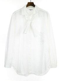 【中古】Yohji Yamamoto POUR HOMME ヨウジヤマモト プールオム 19SS リボンドッキングコットンシャツ ホワイト 3 メンズ