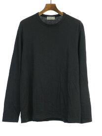 【中古】Yohji Yamamoto POUR HOMME ヨウジヤマモト プールオム 15AW クルーネックロングスリーブTシャツ ブラック 3 メンズ