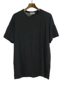 【中古】Yohji Yamamoto POUR HOMME ヨウジヤマモト プールオム 16SS コットンレーヨンバインダーTシャツ ブラック 3 メンズ