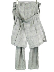 【中古】ANTHOLOGIE アンソロジー BONDAGE PANT グレンチェック柄ボンテージパンツ グレー 1 メンズ