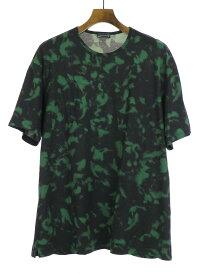 【中古】LAD MUSICIAN ラッドミュージシャン BIG T-SHIRT フェザープリントビッグTシャツ グリーン 44 メンズ