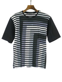 【中古】ISSEY MIYAKE MEN イッセイミヤケ メン 15AW 板締め染めボーダーTシャツ マルチカラー 1 メンズ