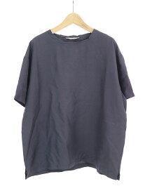 【中古】VALENTINO ヴァレンティノ シルクTシャツ ネイビー 46 メンズ