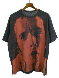 【中古】LAD MUSICIAN ラッドミュージシャン 16AW Dennis MorrisフォトプリントビッグTシャツ ネイビー 42 メンズ