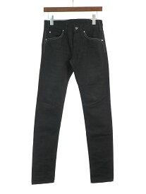 【中古】LEMAIRE ルメール ウエスタン刺繍デニムパンツ ブラック 27 メンズ