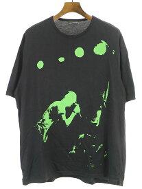 【中古】LAD MUSICIAN ラッドミュージシャン 20SS BIG T-SHIRT ビッグプリントTシャツ ブラック 44 メンズ